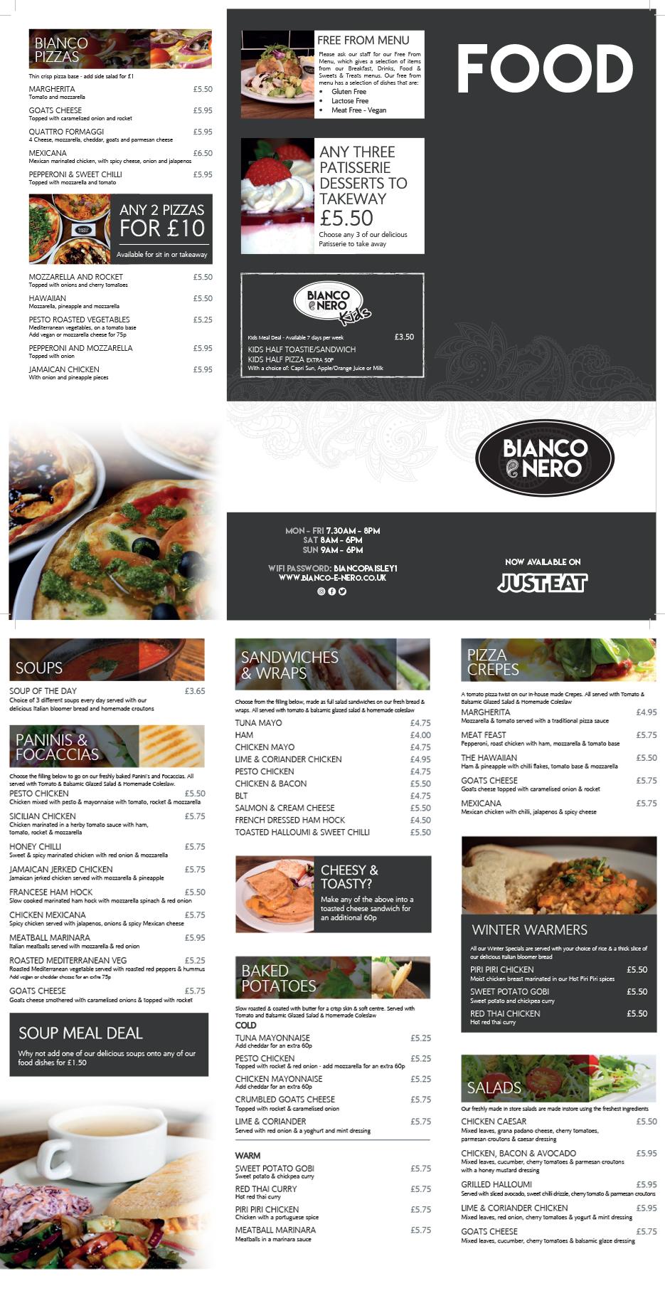 Bianco E Nero Food Menu-1